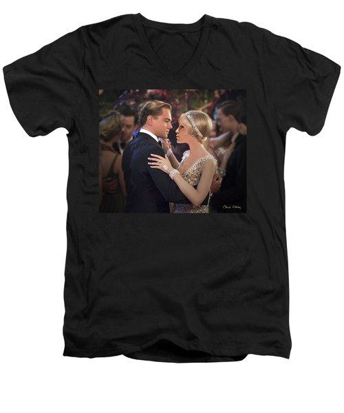 Art Deco Ball  Men's V-Neck T-Shirt