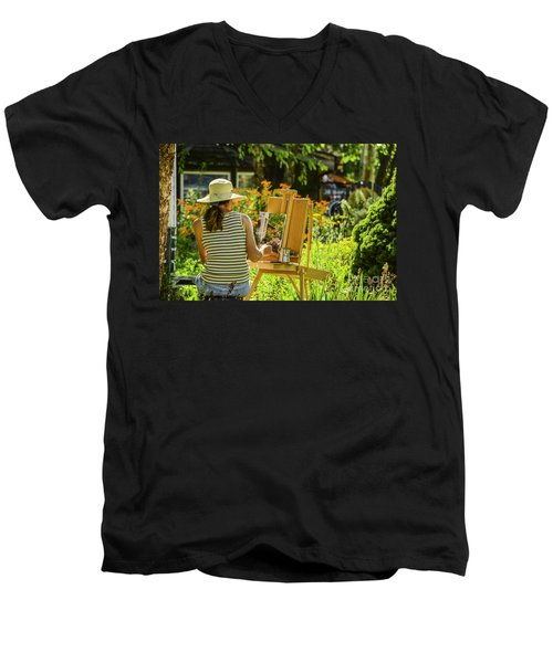Art In The Garden Men's V-Neck T-Shirt