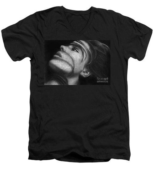 Art In The News 42 Men's V-Neck T-Shirt