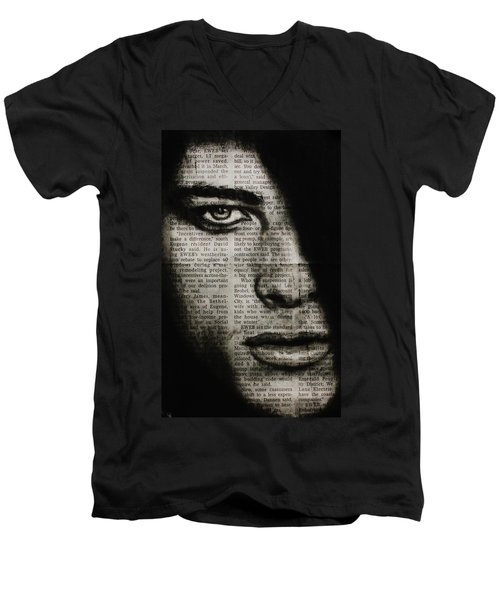 Art In The News 7 Men's V-Neck T-Shirt