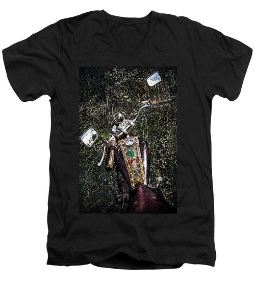 Art In The Weeds Men's V-Neck T-Shirt