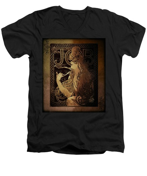 Art Nouveau Job - Masquerade Men's V-Neck T-Shirt