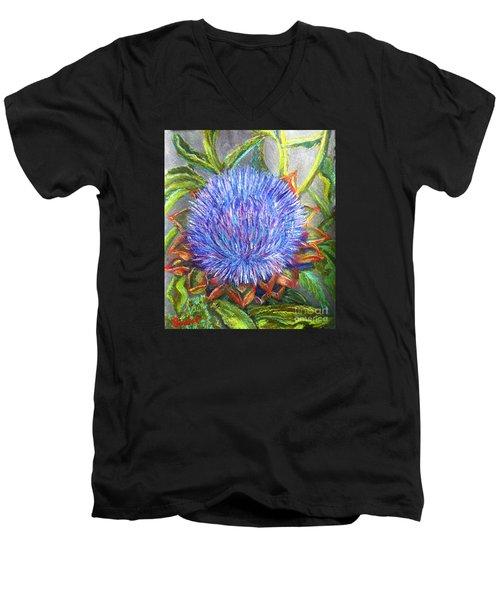 Artichoke Blossom Men's V-Neck T-Shirt