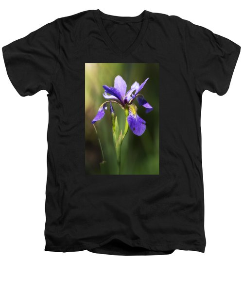Artsy Iris Men's V-Neck T-Shirt