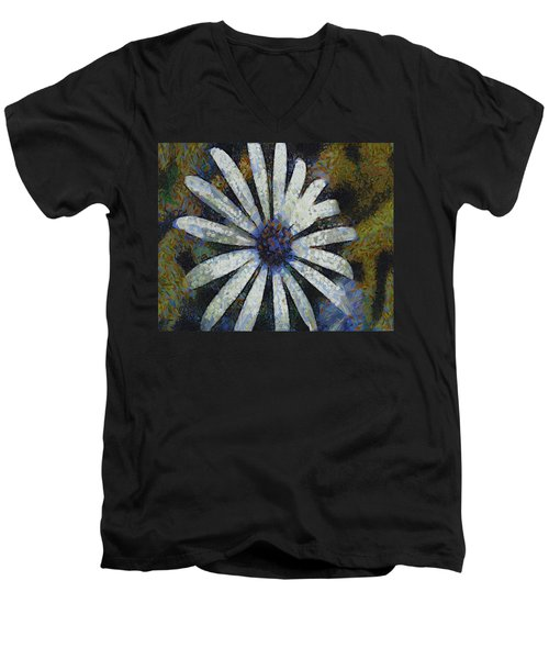 Men's V-Neck T-Shirt featuring the painting As It Happened by Joe Misrasi