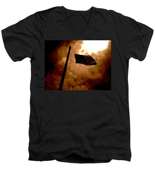 Ascend From Darkness Men's V-Neck T-Shirt by Paulo Guimaraes