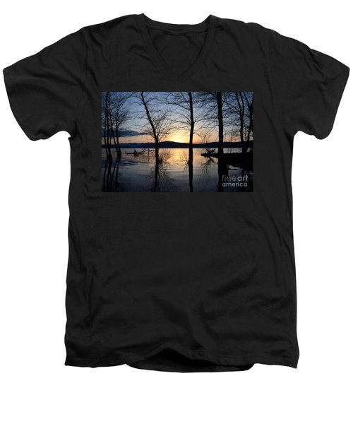 Ashokan Reservoir 43 Men's V-Neck T-Shirt