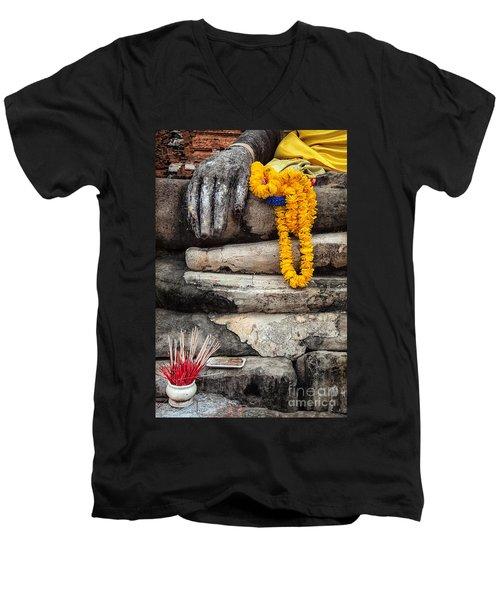 Asian Buddhism Men's V-Neck T-Shirt