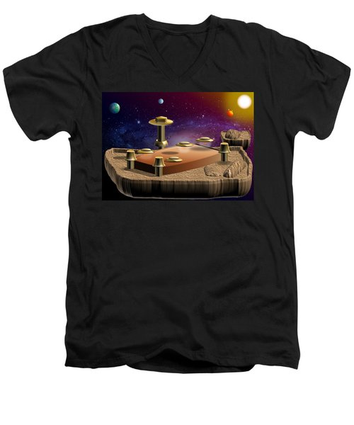 Asteroid Terminal Men's V-Neck T-Shirt