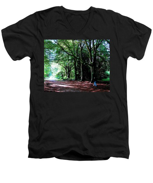Men's V-Neck T-Shirt featuring the photograph At Peace With Nature by Charlie Brock