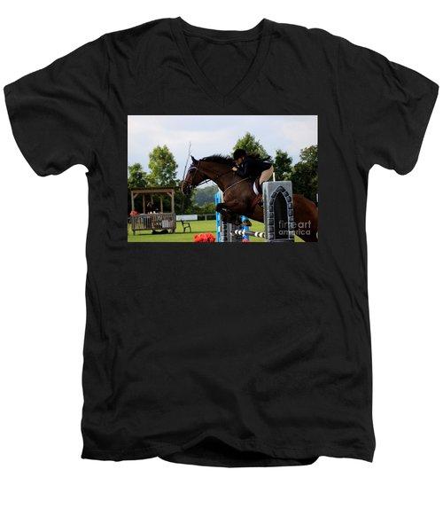At-s-jumper117 Men's V-Neck T-Shirt