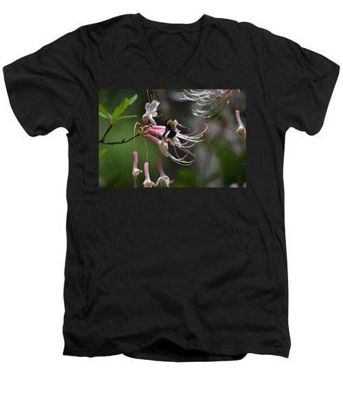 Men's V-Neck T-Shirt featuring the photograph At Work by Tara Potts