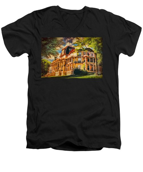 Athenaeum Hotel - Chautauqua Institute Men's V-Neck T-Shirt by Lianne Schneider