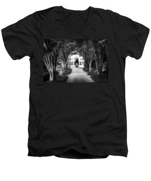 Atlanta Botanical Garden-black And White Men's V-Neck T-Shirt