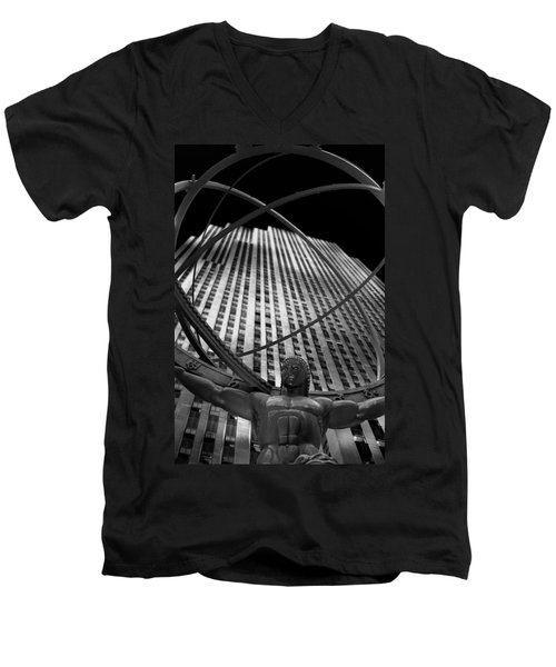 Atlas Rockefeller Center Men's V-Neck T-Shirt