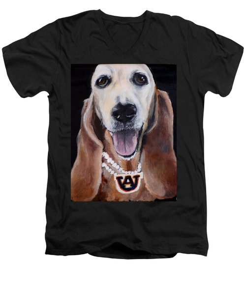 Aubie Men's V-Neck T-Shirt
