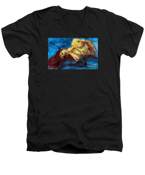 Auburn In Repsoe Men's V-Neck T-Shirt by Michael Cross