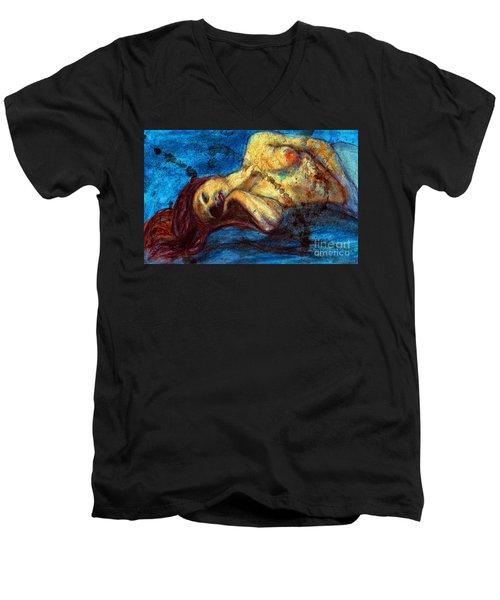 Auburn In Repsoe Men's V-Neck T-Shirt