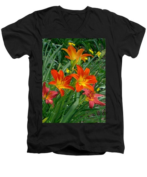 Lilies Galore Men's V-Neck T-Shirt