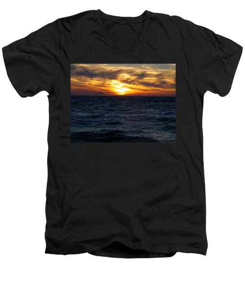 Men's V-Neck T-Shirt featuring the photograph Augustine Sleeps by Jeremy Rhoades