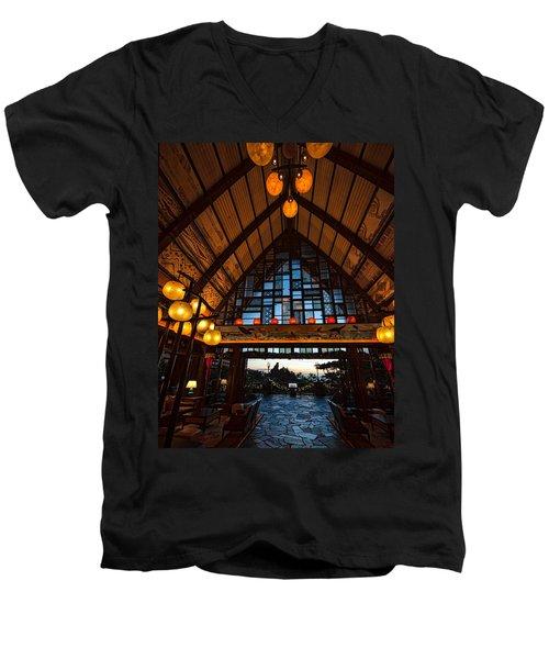 Aulani Lobby Men's V-Neck T-Shirt