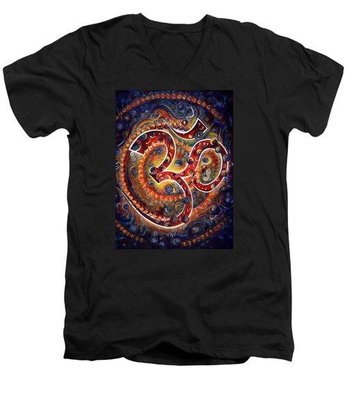 AUM Men's V-Neck T-Shirt by Harsh Malik
