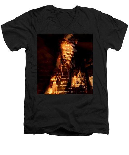 Men's V-Neck T-Shirt featuring the photograph Aurous by Jessica Shelton
