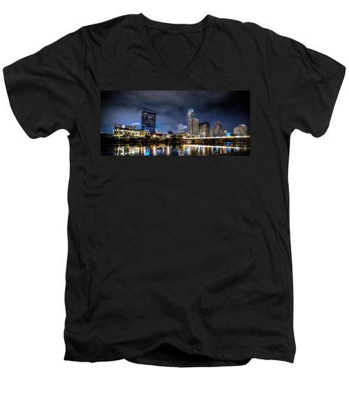 Austin Skyline Hdr Men's V-Neck T-Shirt