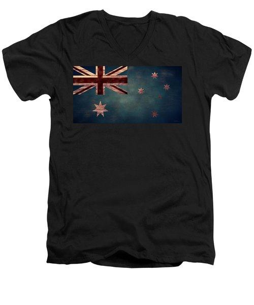 Australian Flag I Men's V-Neck T-Shirt