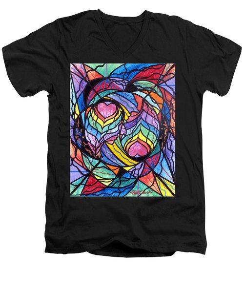 Authentic Relationship Men's V-Neck T-Shirt