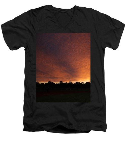 Autum Sunset Men's V-Neck T-Shirt