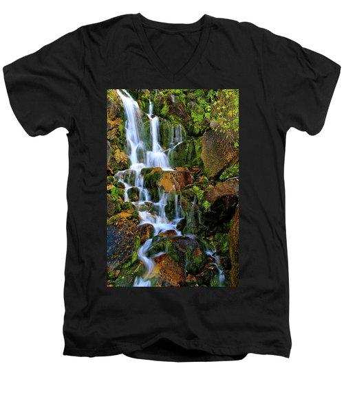 Autumn Along Summit Creek Men's V-Neck T-Shirt