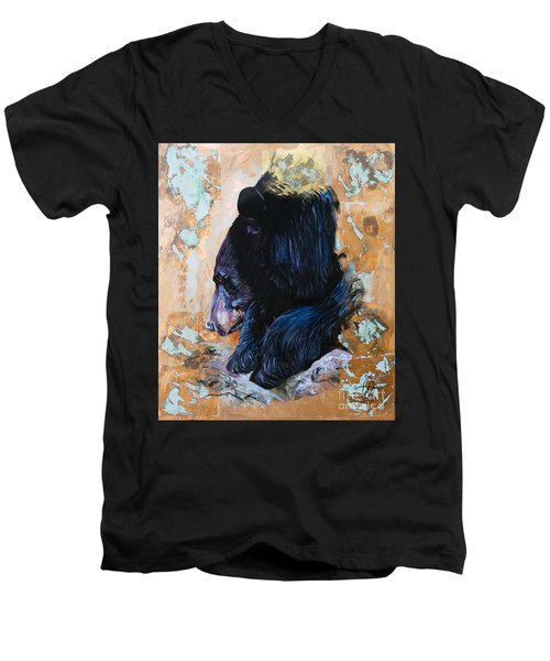Autumn Bear Men's V-Neck T-Shirt
