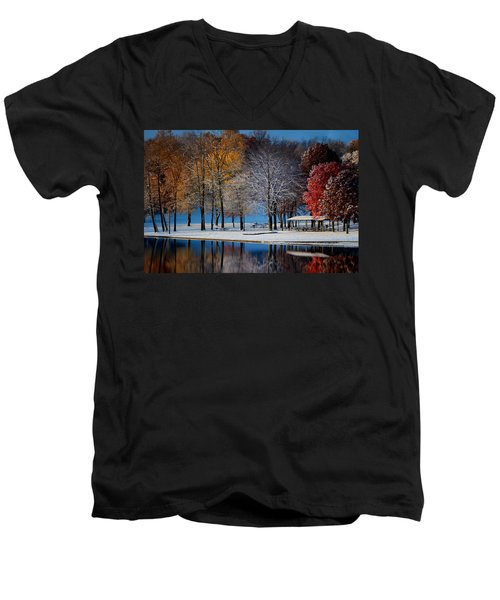 Autumn Blues Men's V-Neck T-Shirt