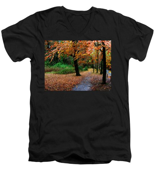 Autumn Entrance To Muckross House Killarney Men's V-Neck T-Shirt