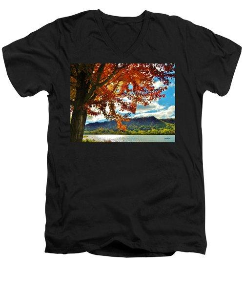 Autumn In Minnesota Men's V-Neck T-Shirt