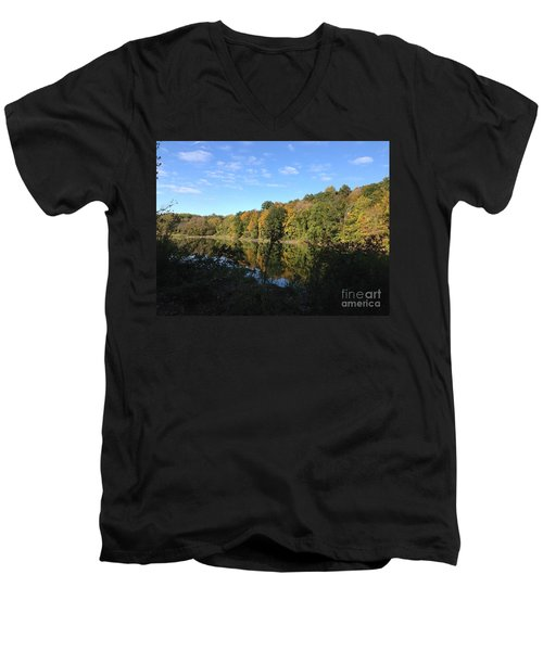 Autumn In New York Men's V-Neck T-Shirt