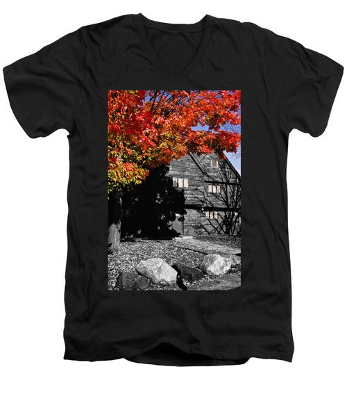 Autumn In Salem Men's V-Neck T-Shirt