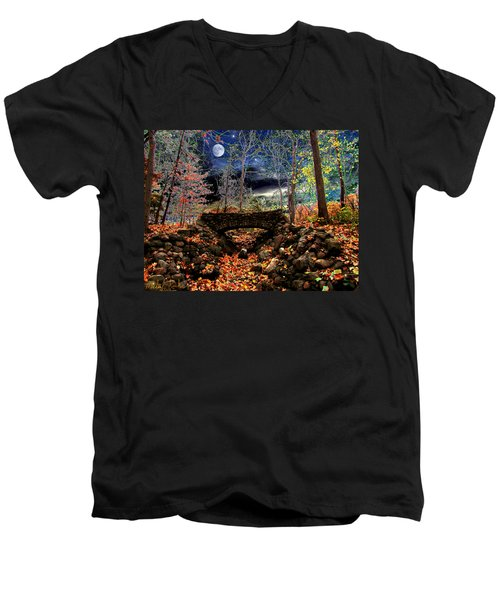Autumn In The Meadow Men's V-Neck T-Shirt by Michael Rucker