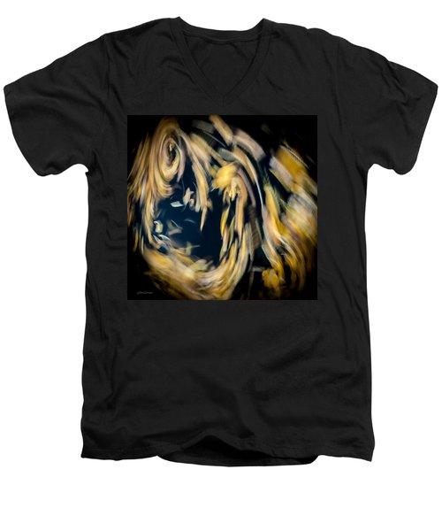 Autumn Storm Men's V-Neck T-Shirt by Steven Milner