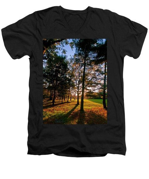 Autumn Sunset Men's V-Neck T-Shirt