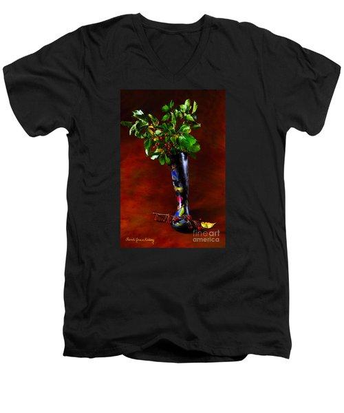 Autumn Symphony Men's V-Neck T-Shirt
