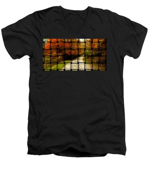 Autumn Weave Men's V-Neck T-Shirt
