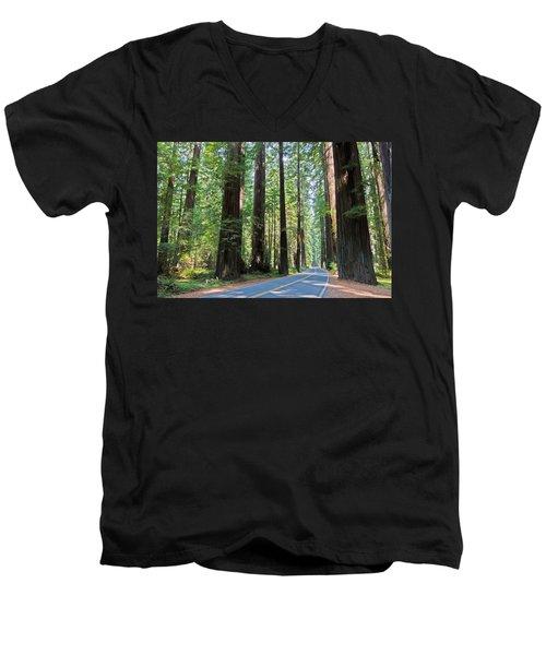 Avenue Of The Giants Men's V-Neck T-Shirt
