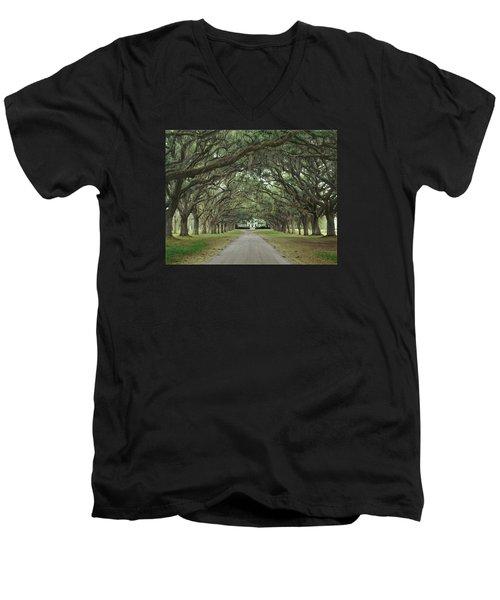 147706-avenue Of The Oaks  Men's V-Neck T-Shirt