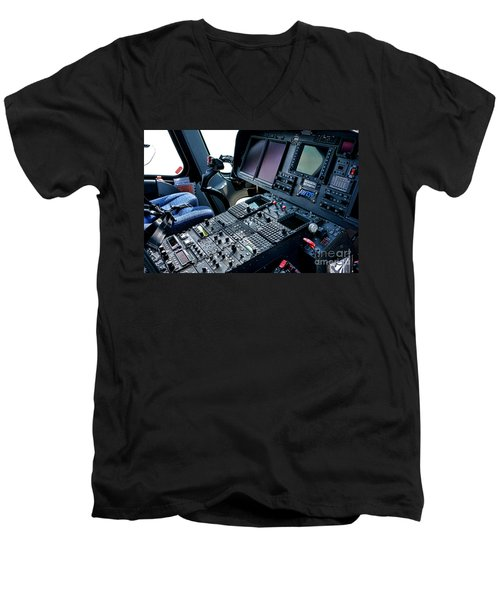 Aw139 Cockpit Men's V-Neck T-Shirt