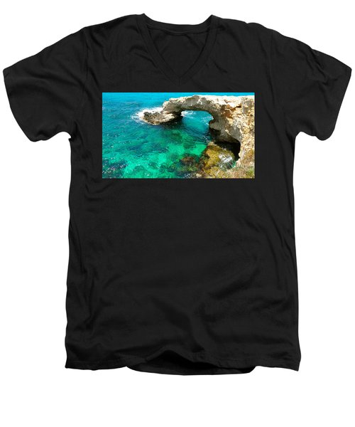 Ayia Napa In Cyprus Men's V-Neck T-Shirt