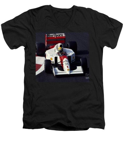 Ayrton Senna. 1992 French Grand Prix Men's V-Neck T-Shirt