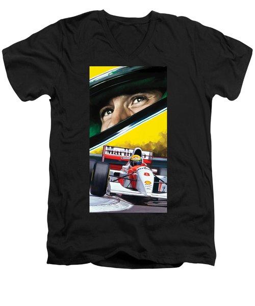 Ayrton Senna Artwork Men's V-Neck T-Shirt