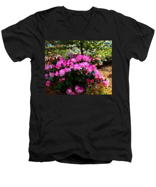 Azalea Men's V-Neck T-Shirt by Terence Morrissey